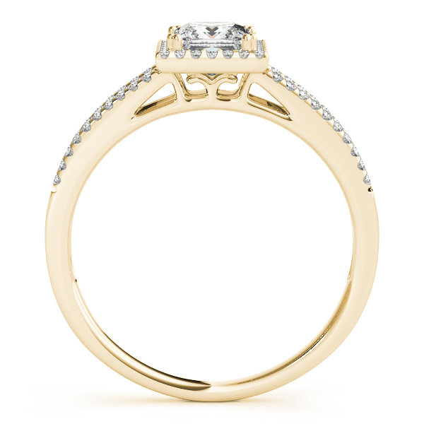 14K Yellow Gold Halo Engagement Ring Image 2 Atlanta West Jewelry Douglasville, GA