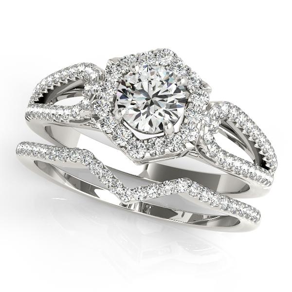 Ring Size 5.75 Diamond Ring 13 Carat Diamond 14K Double White Yellow Solid Gold Ring