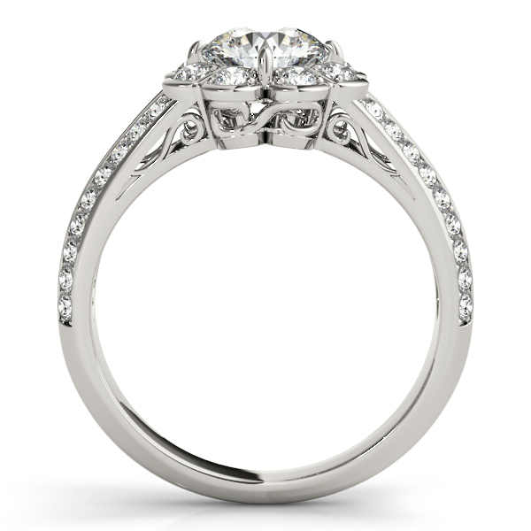 18K White Gold Round Halo Engagement Ring Image 2 Atlanta West Jewelry Douglasville, GA