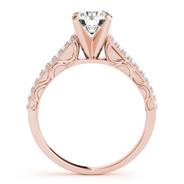 18K Rose Gold Antique Engagement Ring Image 2 Atlanta West Jewelry Douglasville, GA