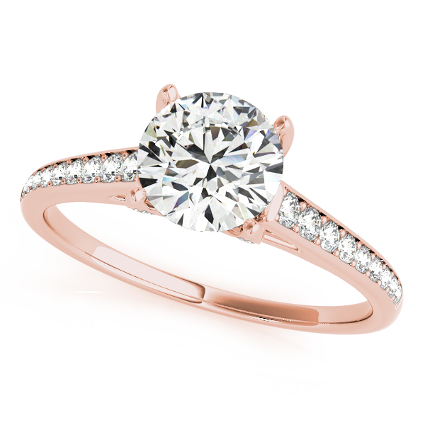 18K Rose Gold Single Row Prong Engagement Ring Atlanta West Jewelry Douglasville, GA