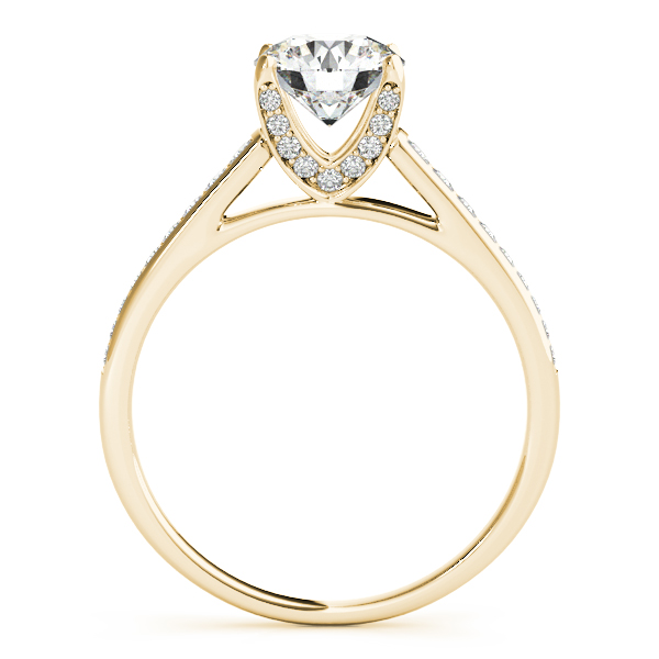14K Yellow Gold Single Row Prong Engagement Ring Image 2 Atlanta West Jewelry Douglasville, GA