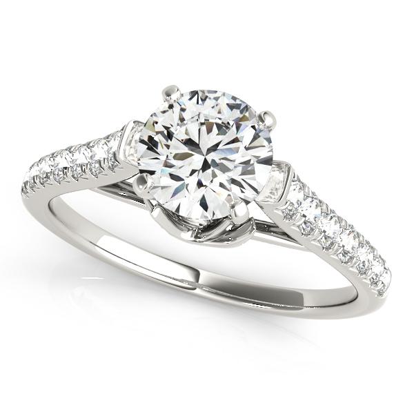 10k White Gold Single Row Prong Engagement Ring 50643 E 10kw James Douglas Jewelers Llc Monroeville Pa