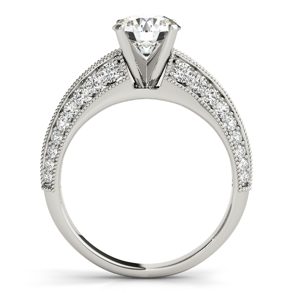 18K White Gold Multi-Row Engagement Ring Image 2  ,