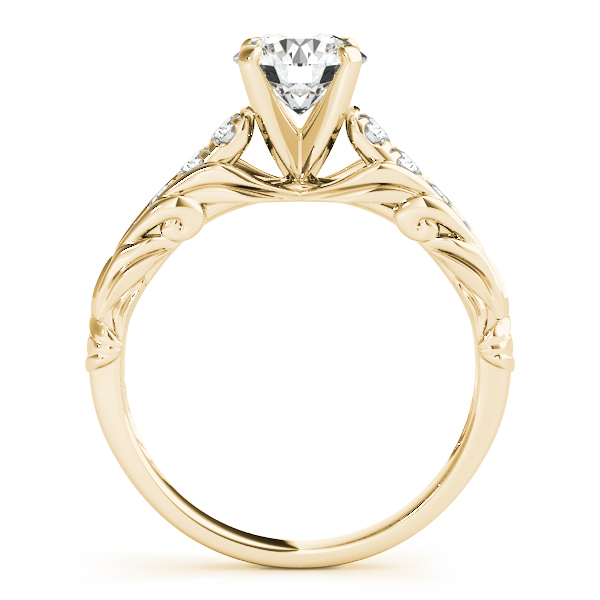 Overnight 18k Yellow Gold Single Row Prong Engagement Ring Willis Fine Jewelry Rockwall Tx