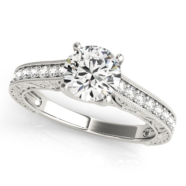 14K White Gold Trellis Engagement Ring Atlanta West Jewelry Douglasville, GA
