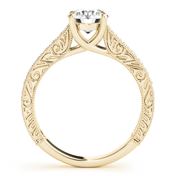 18K Yellow Gold Trellis Engagement Ring Image 2 Atlanta West Jewelry Douglasville, GA