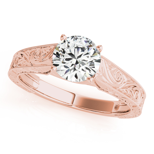 18K Rose Gold Trellis Engagement Ring Atlanta West Jewelry Douglasville, GA