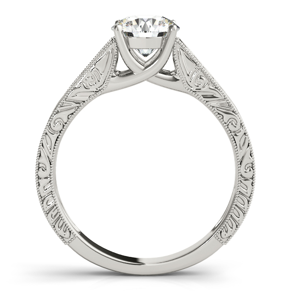 18K White Gold Trellis Engagement Ring Image 2 Atlanta West Jewelry Douglasville, GA