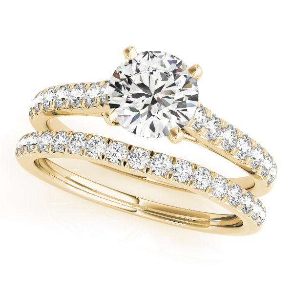 14K Yellow Gold Single Row Prong Engagement Ring Image 3  ,