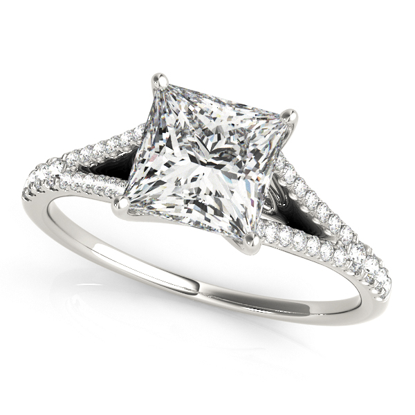 Platinum Multi-Row Engagement Ring Atlanta West Jewelry Douglasville, GA