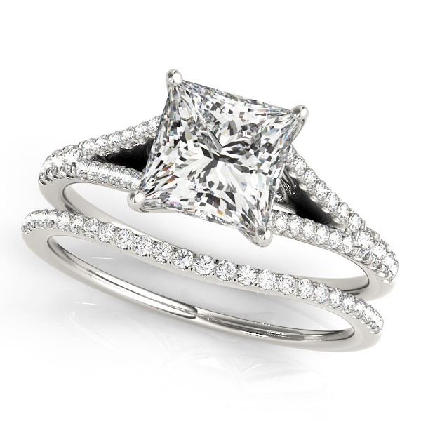 Platinum Multi-Row Engagement Ring Image 3 Atlanta West Jewelry Douglasville, GA