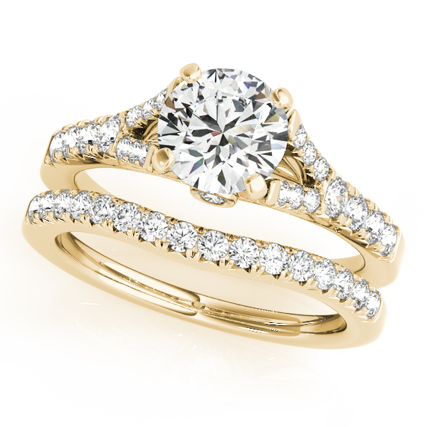 18K Yellow Gold Single Row Prong Engagement Ring Image 3 Atlanta West Jewelry Douglasville, GA
