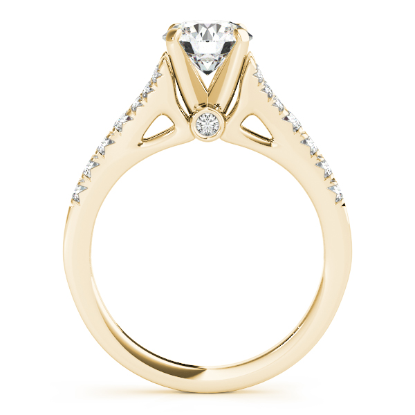 18K Yellow Gold Single Row Prong Engagement Ring Image 2 Atlanta West Jewelry Douglasville, GA