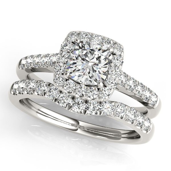 Platinum Halo Engagement Ring Image 3 Atlanta West Jewelry Douglasville, GA