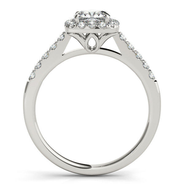 Platinum Halo Engagement Ring Image 2 Atlanta West Jewelry Douglasville, GA