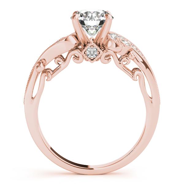 ecaadfac0 Overnight 10K Rose Gold Antique Engagement Ring 50781-E-10KR | Sam ...