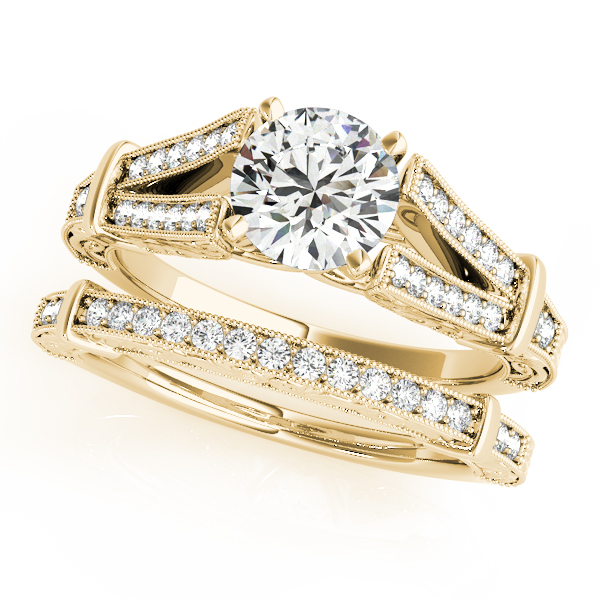 18K Yellow Gold Multi-Row Engagement Ring Image 3 Atlanta West Jewelry Douglasville, GA