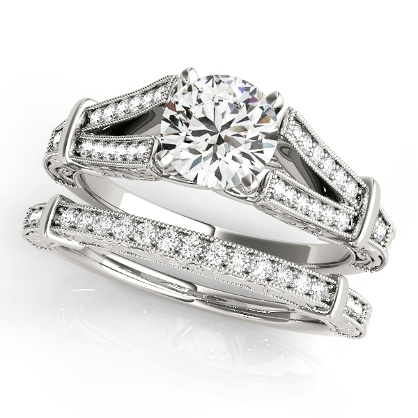 14K White Gold Multi-Row Engagement Ring Image 3 Atlanta West Jewelry Douglasville, GA