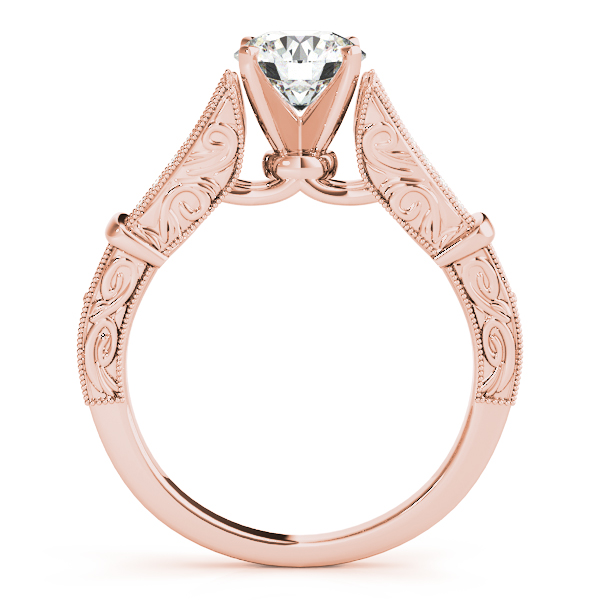 18K Rose Gold Multi-Row Engagement Ring Image 2  ,