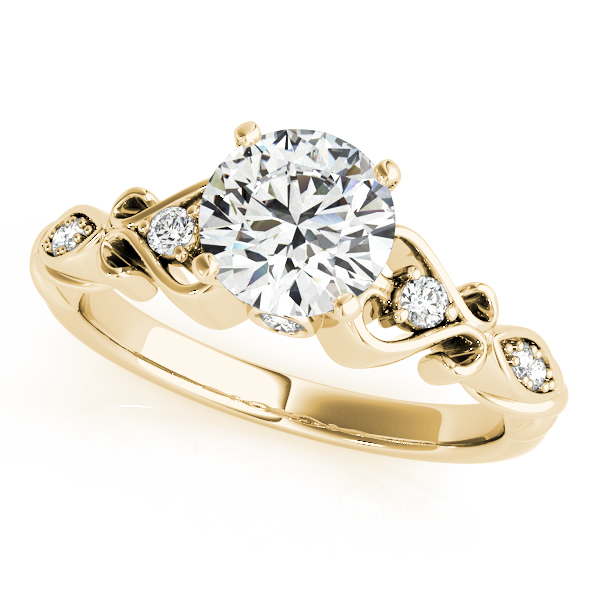 18k Yellow Gold Antique Engagement Ring