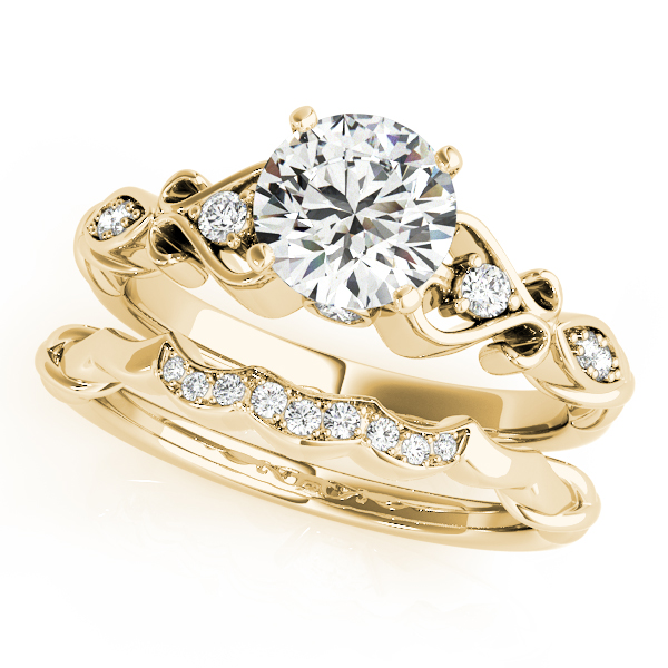 14K Yellow Gold Antique Engagement Ring Image 3  ,