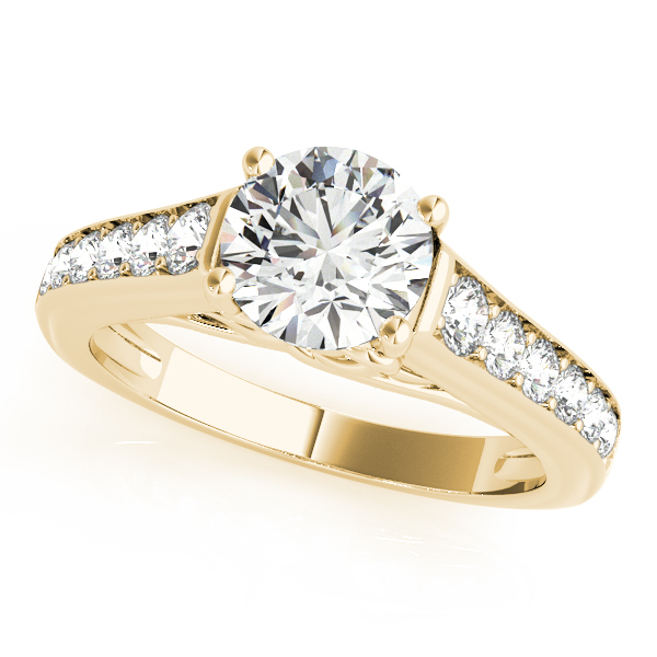 14K Yellow Gold Single Row Prong Engagement Ring Atlanta West Jewelry Douglasville, GA