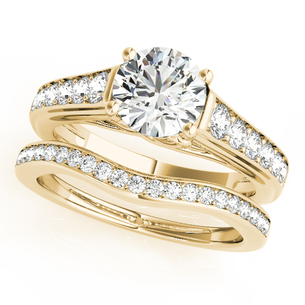 14K Yellow Gold Single Row Prong Engagement Ring Image 3 Atlanta West Jewelry Douglasville, GA