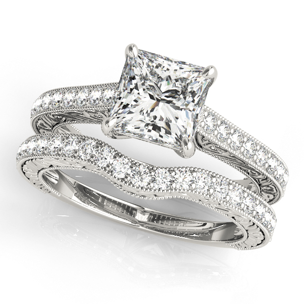 18K White Gold Trellis Engagement Ring Image 3 Atlanta West Jewelry Douglasville, GA