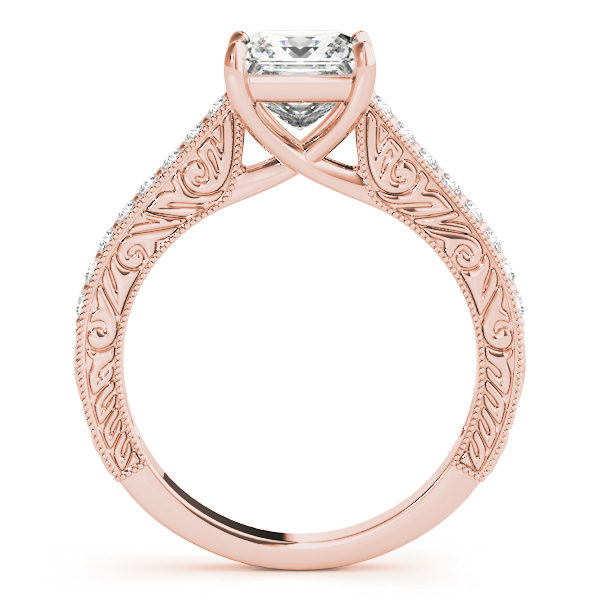 18K Rose Gold Trellis Engagement Ring Image 2 Atlanta West Jewelry Douglasville, GA