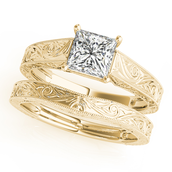 18K Yellow Gold Trellis Engagement Ring Image 3 Atlanta West Jewelry Douglasville, GA