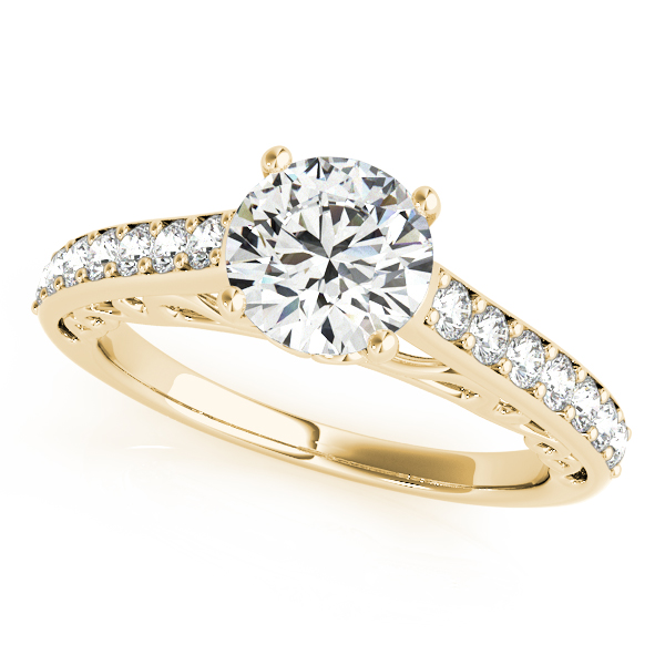 18K Yellow Gold Single Row Prong Engagement Ring Atlanta West Jewelry Douglasville, GA