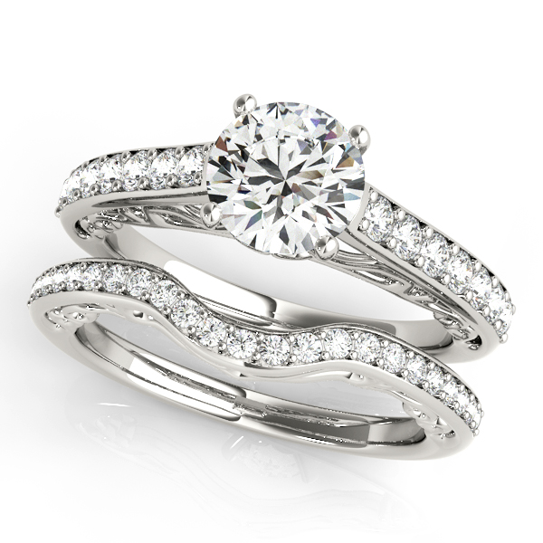 Platinum Single Row Prong Engagement Ring Image 3 Atlanta West Jewelry Douglasville, GA