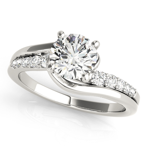 14K White Gold Bypass-Style Engagement Ring Atlanta West Jewelry Douglasville, GA