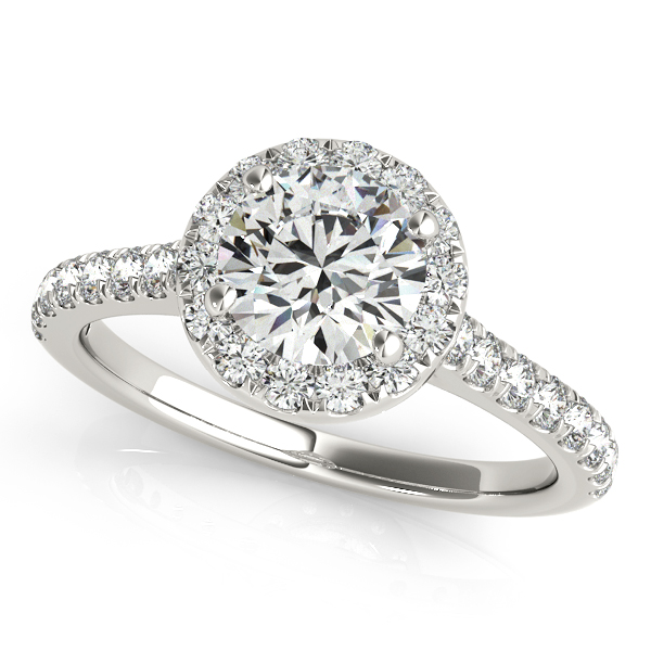 Platinum Round Halo Engagement Ring Douglas Diamonds Faribault, MN