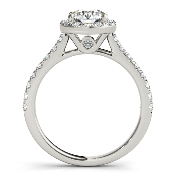 Platinum Round Halo Engagement Ring Image 2 Douglas Diamonds Faribault, MN