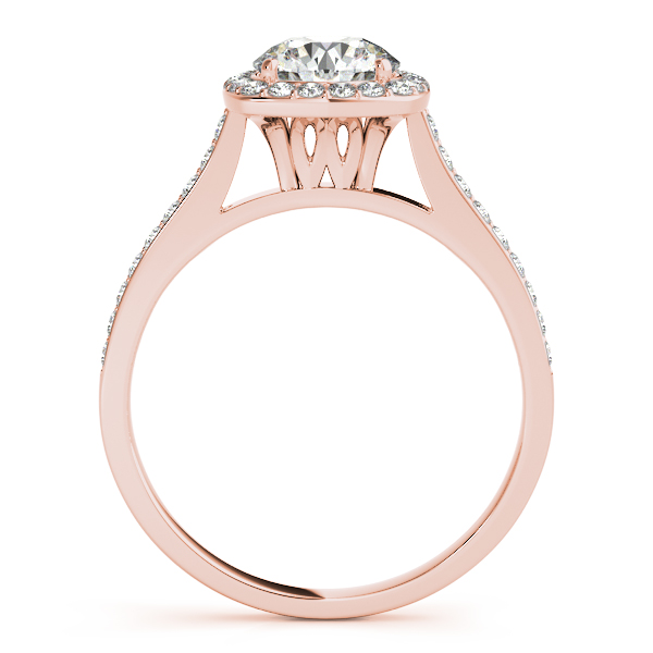 18K Rose Gold Round Halo Engagement Ring Image 2 Douglas Diamonds Faribault, MN