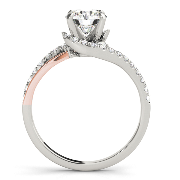 Platinum Bypass-Style Engagement Ring Image 2 Douglas Diamonds Faribault, MN