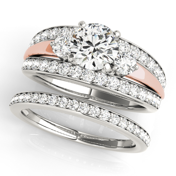 14K White Gold Engagement Ring Image 3  ,