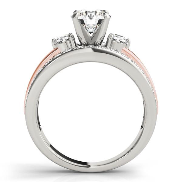 14K White Gold Engagement Ring Image 2  ,