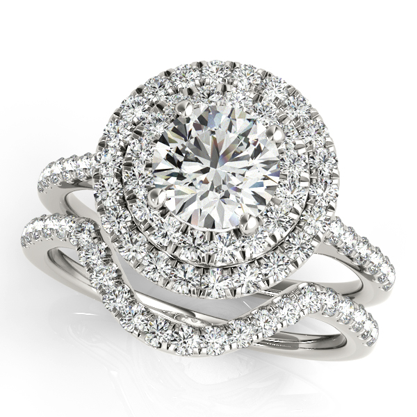 Platinum Round Halo Engagement Ring Image 3 Atlanta West Jewelry Douglasville, GA