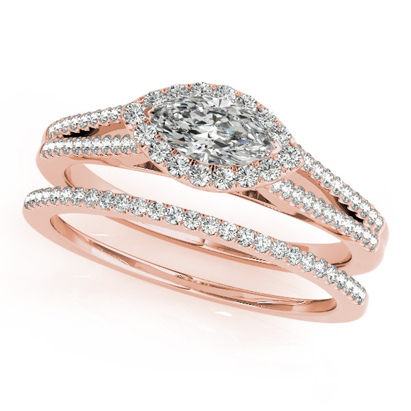 18K Rose Gold Halo Engagement Ring Image 3 Douglas Diamonds Faribault, MN