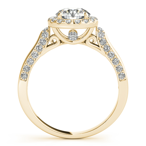 18K Yellow Gold Round Halo Engagement Ring Image 2 Douglas Diamonds Faribault, MN