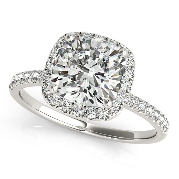 10K White Gold Halo Engagement Ring Douglas Diamonds Faribault, MN