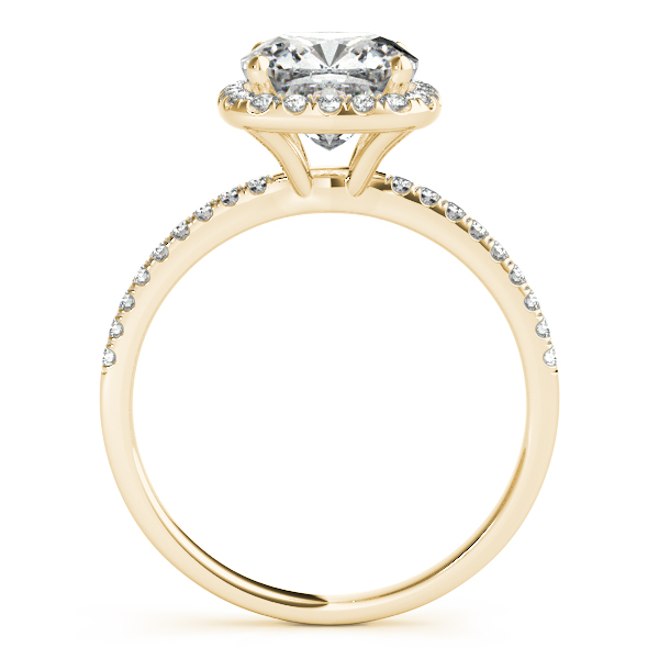 18K Yellow Gold Halo Engagement Ring Image 2  ,