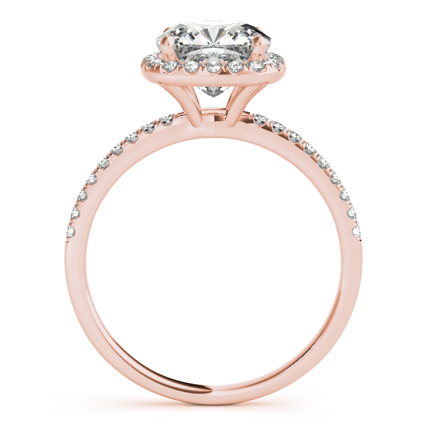 10K Rose Gold Halo Engagement Ring Image 2 Douglas Diamonds Faribault, MN