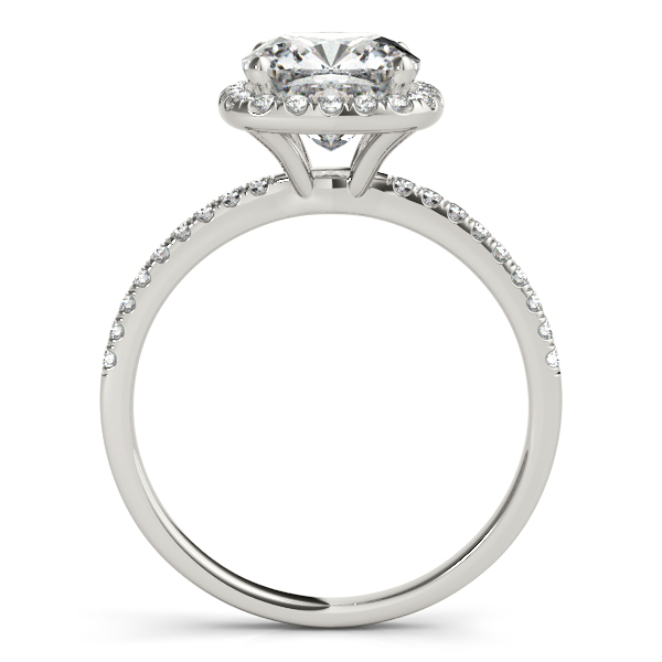18K White Gold Halo Engagement Ring Image 2 Atlanta West Jewelry Douglasville, GA