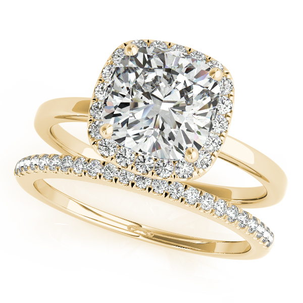 10K Yellow Gold Halo Engagement Ring Image 3 Douglas Diamonds Faribault, MN