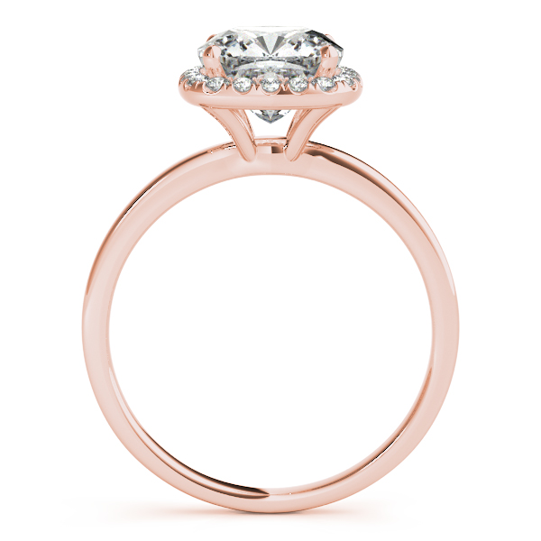 10K Rose Gold Halo Engagement Ring Image 2  ,