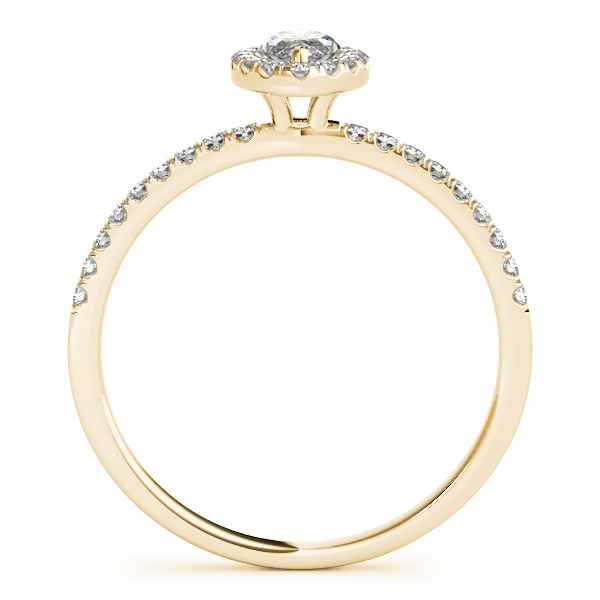 10K Yellow Gold Halo Engagement Ring Image 2 Douglas Diamonds Faribault, MN